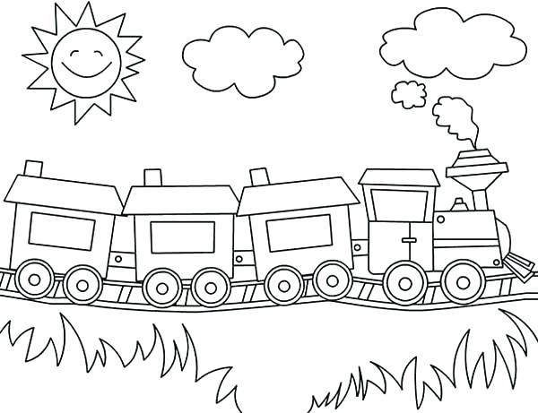 600x461 Coloring Cartoon Trains