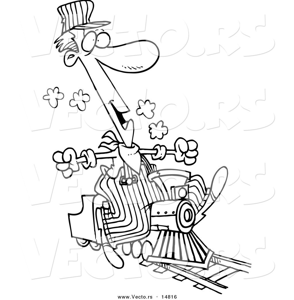 1024x1044 Coloring Pages Train Conductor New Vector Of A Cartoon Train