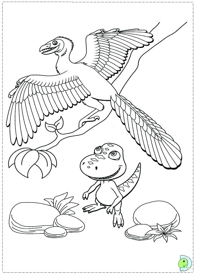 691x960 Dinosaur Train Coloring Page Printable Train Coloring Pages Free