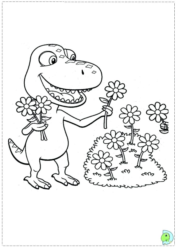 737x1024 Dinosaur Train Coloring Page Train Coloring Pages To Print