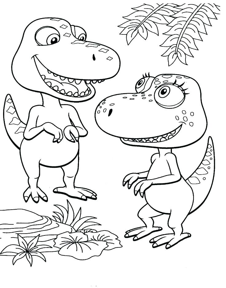 736x937 Dinosaur Train Conductor Coloring Pages Awesome Dinosaurs Pictures