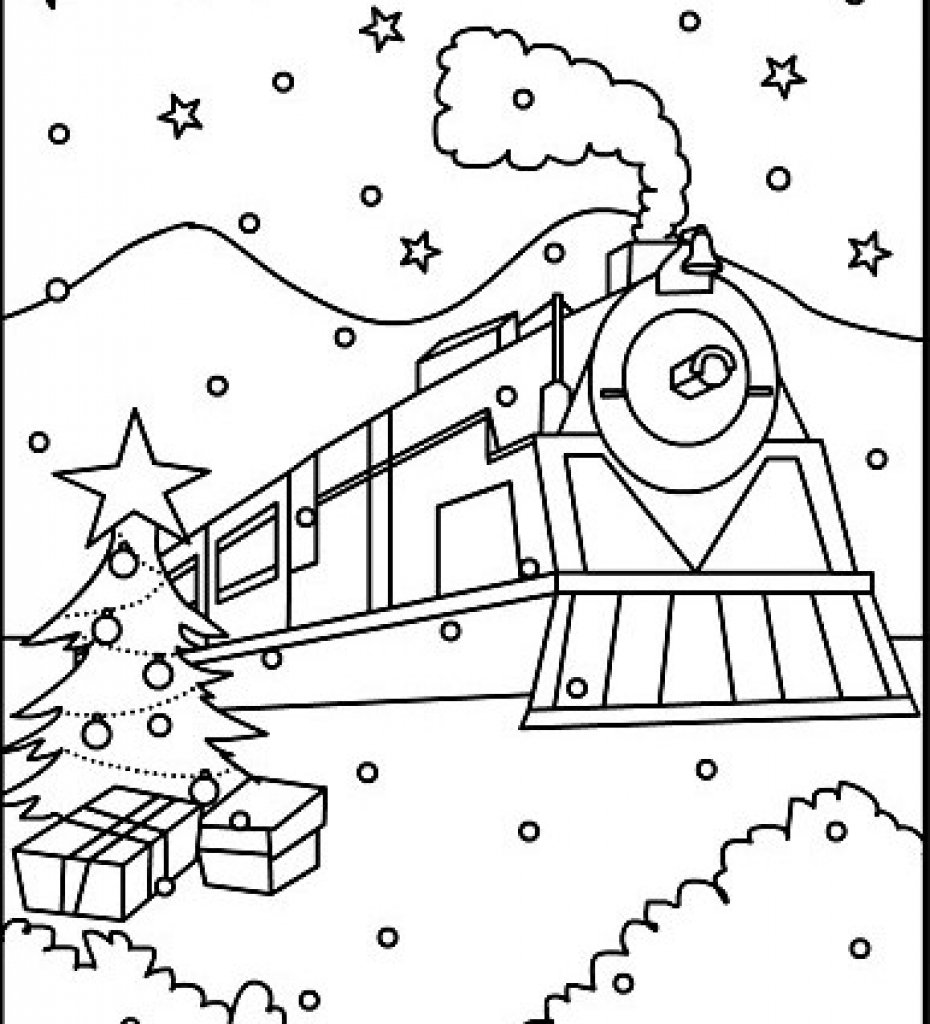 930x1024 Polar Express Train Coloring Pages To Good Draw Printable