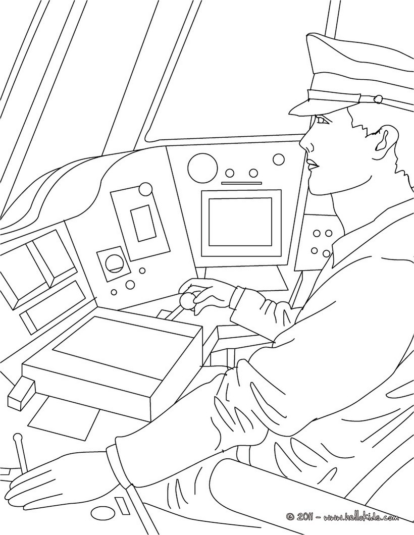 820x1060 Train Driver Coloring Pages