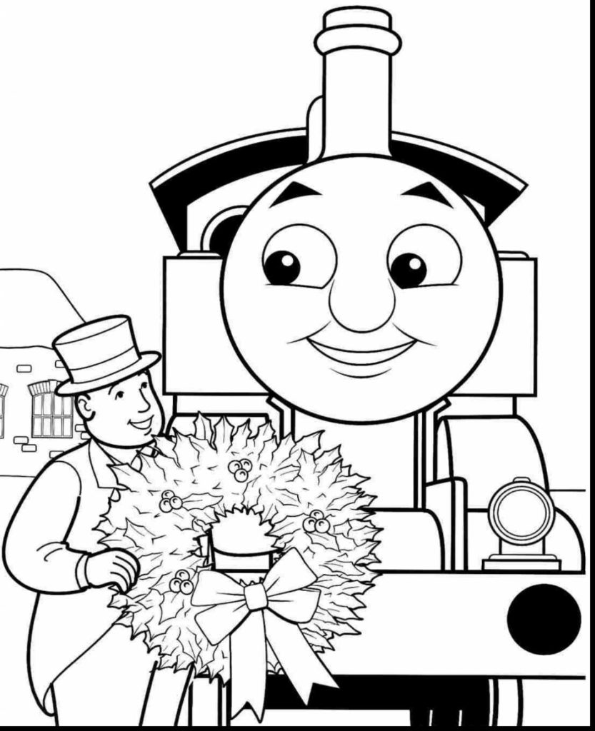 833x1024 Extraordinary Thomas The Tank Engine Coloring Pages With In Train