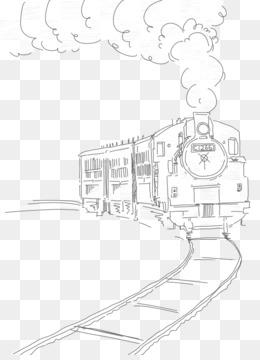 260x360 Free Download Train Drawing Sketch