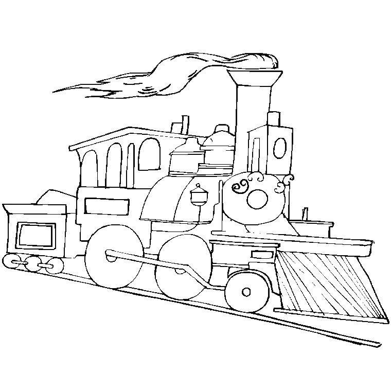 Printable Coloring Pages 760x760 Train Locomotive