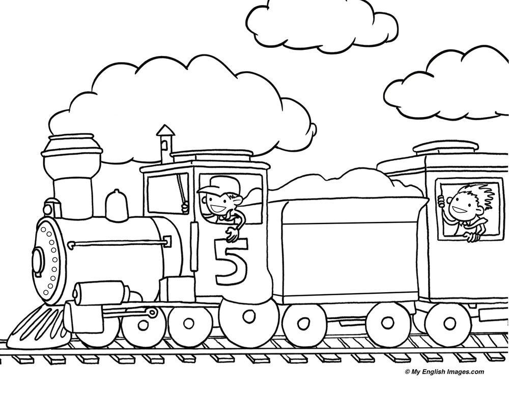 1000x772 Train Outline Line Drawing Painting Kindergarten Worksheet Guide