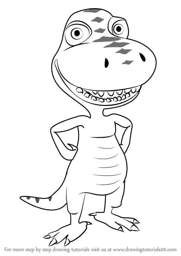 598x844 Learn How To Draw Buddy Tyrannosaurus From Dinosaur Train