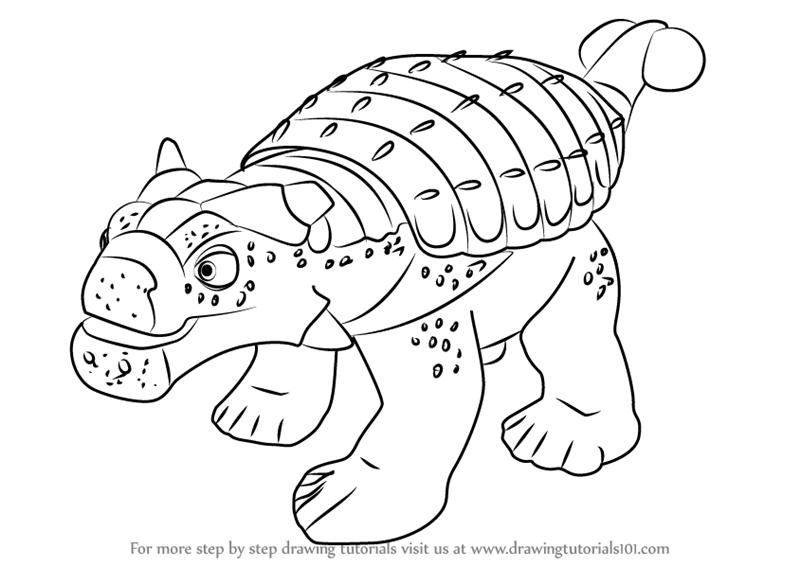 800x566 Learn How To Draw Hank Ankylosaurus From Dinosaur Train (Dinosaur