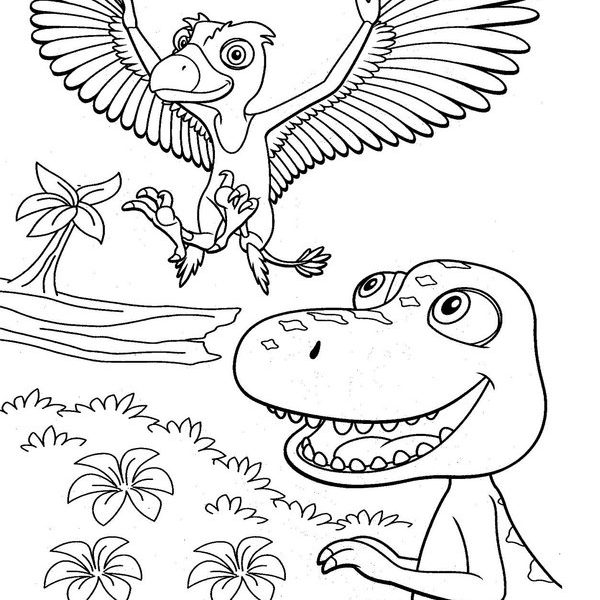 600x600 Dinosaur Train Coloring Book Page