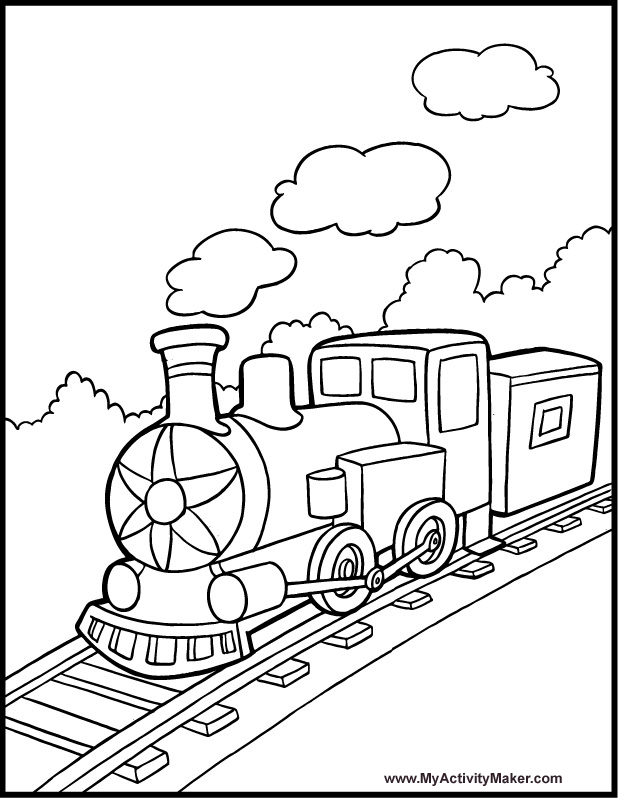 618x798 Simple Train Do You Love Train Here Is Train Coloring Pages