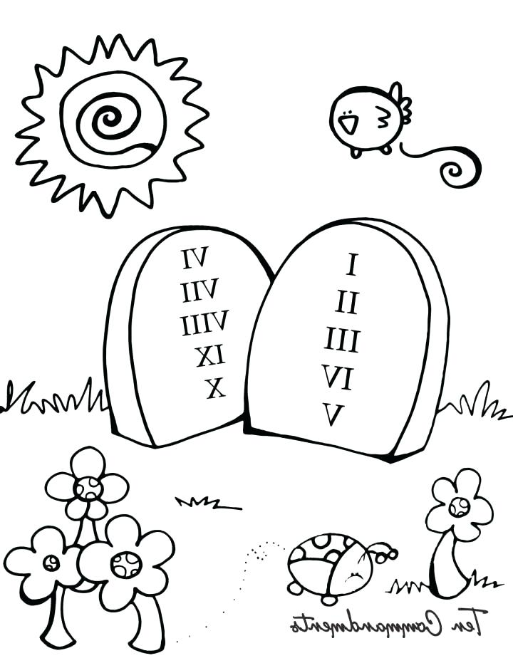 720x931 Ten Commandments For Kids Coloring Pages Printable Colouring Pages