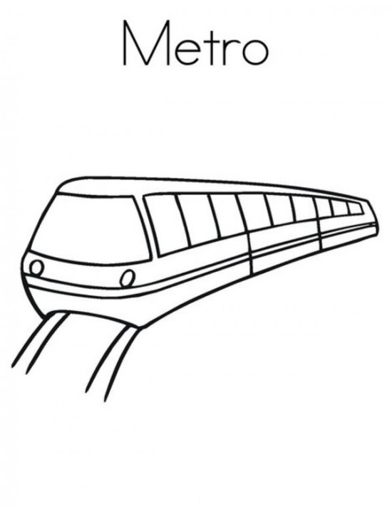 550x711 Train Drawing For Kids