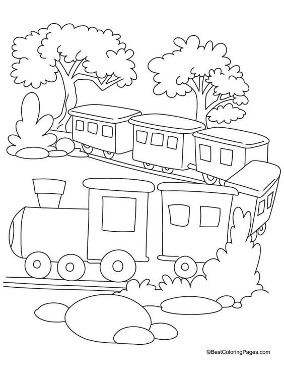 564x729 Train Coloring Page 2 Download Free Train Coloring Page 2
