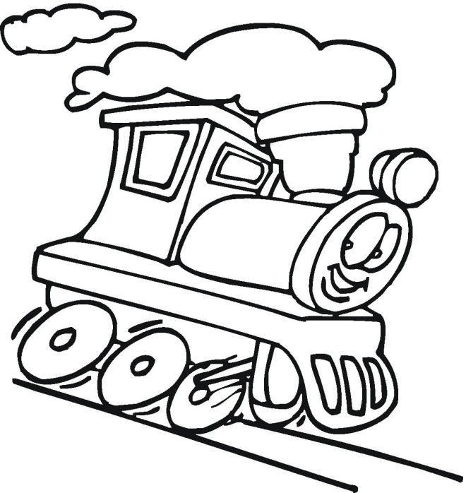 660x698 Coloring Pages For Kids Train Color Bros