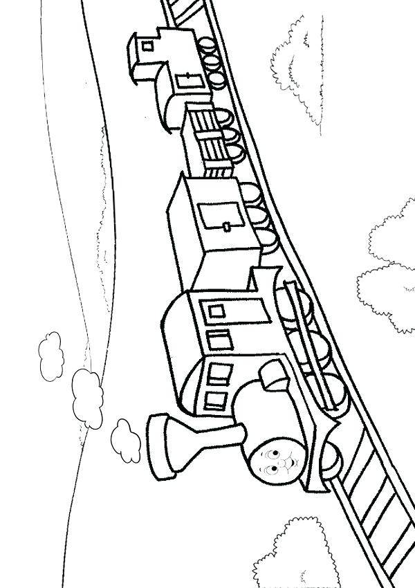 600x850 Train Track Coloring Page Train Drawing For Kids Railroad Track