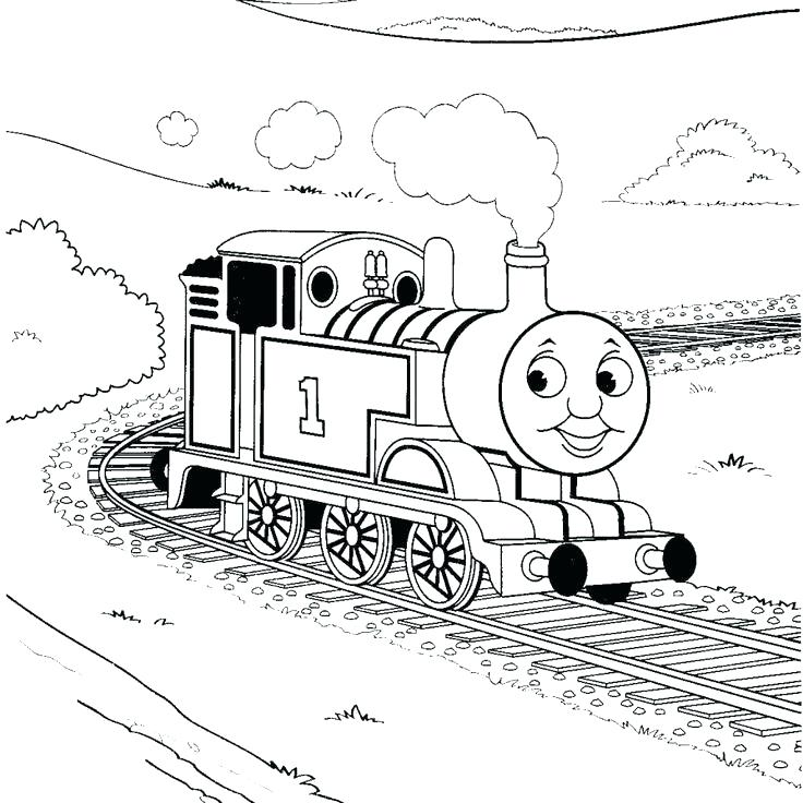 736x736 Thomas The Tank Engine Coloring Pages Online The Train Coloring