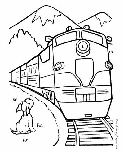 400x490 Train Coloring Pages