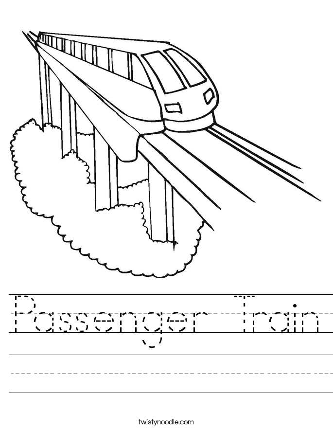 685x886 Passenger Train Worksheet