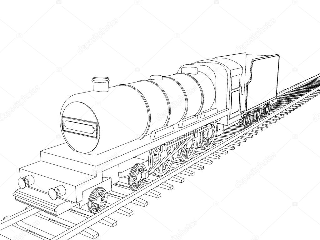 Train Drawing Outline At GetDrawings.com