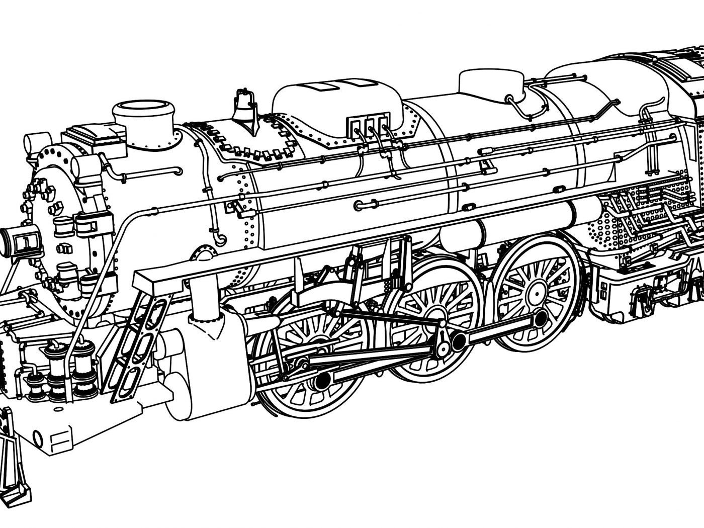 1400x1050 Pictures Train Coloring Pages In To Print For Download And Kids