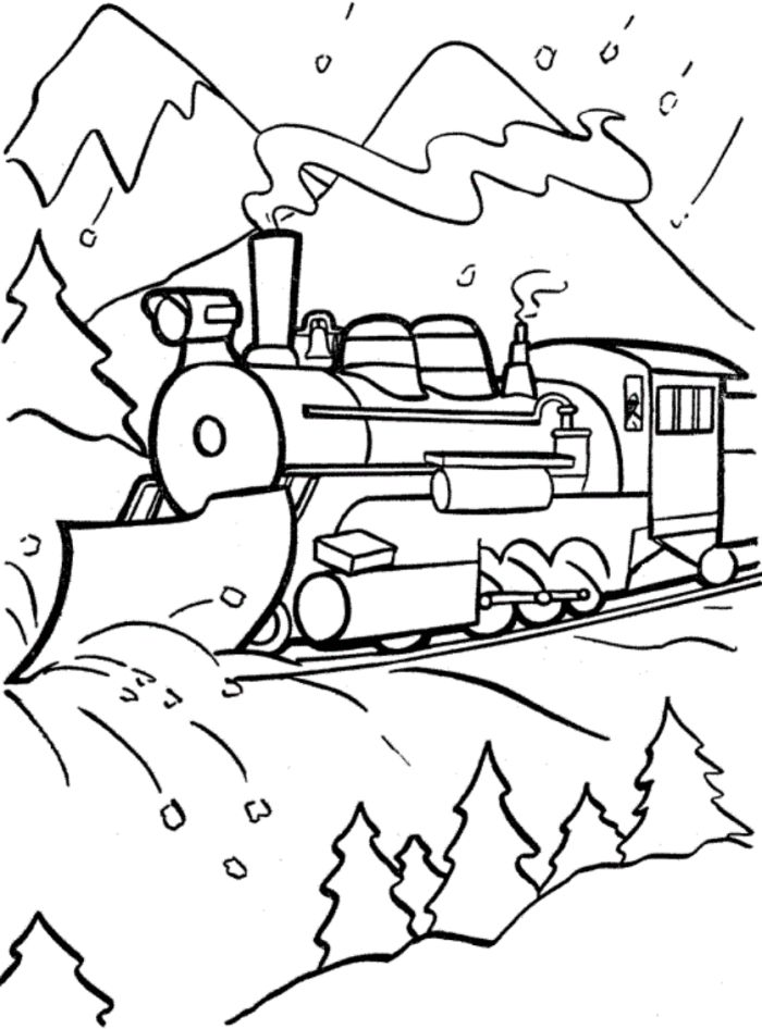 700x946 Polar Express Train Coloring Page Elementary Creations