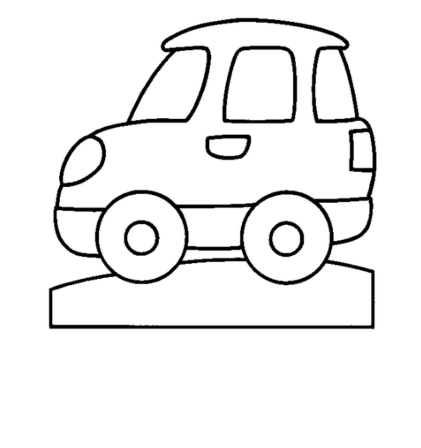 612x652 Simple Car Coloring Pages