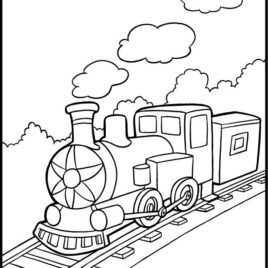 268x268 Simple Train Coloring Page Archives