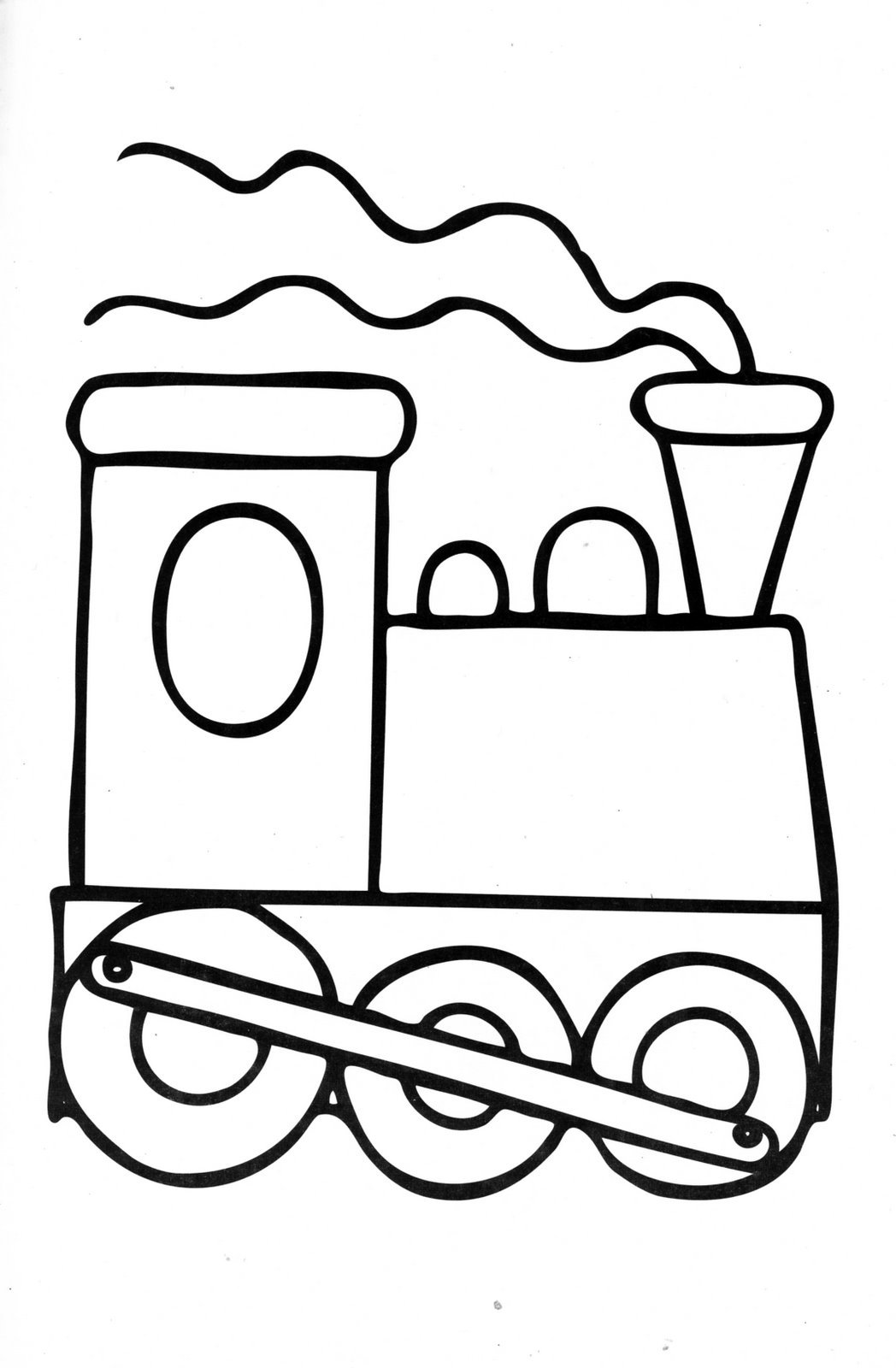 1048x1600 Simple Train Engine Coloring Page Coloring Page For Kids