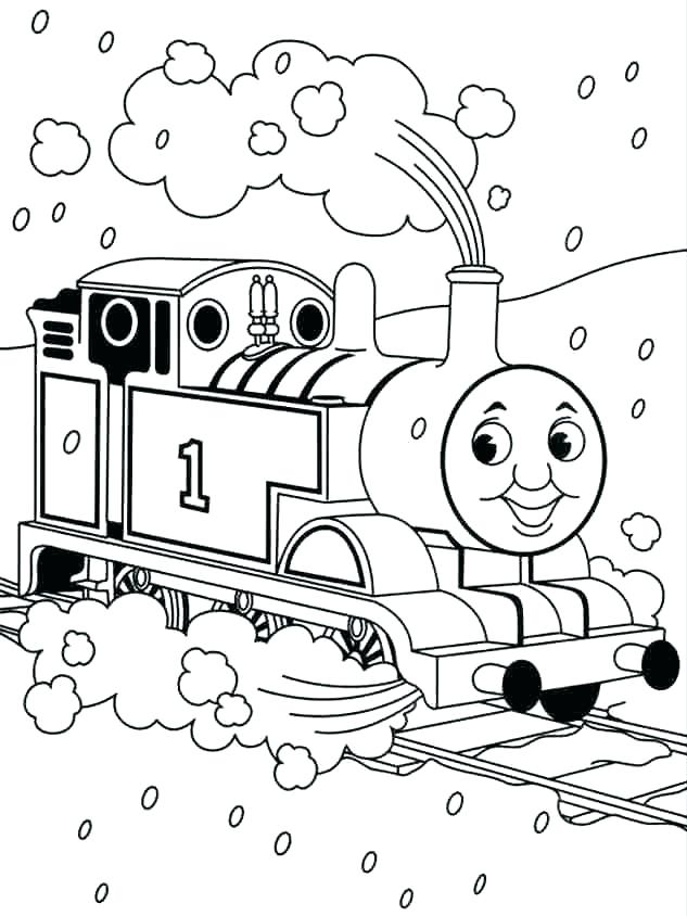 633x844 Thomas Coloring Pages Free The Train Merry Coloring Pages Thomas