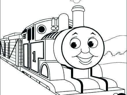 440x330 Thomas The Train Coloring Pictures Train Coloring Train Coloring