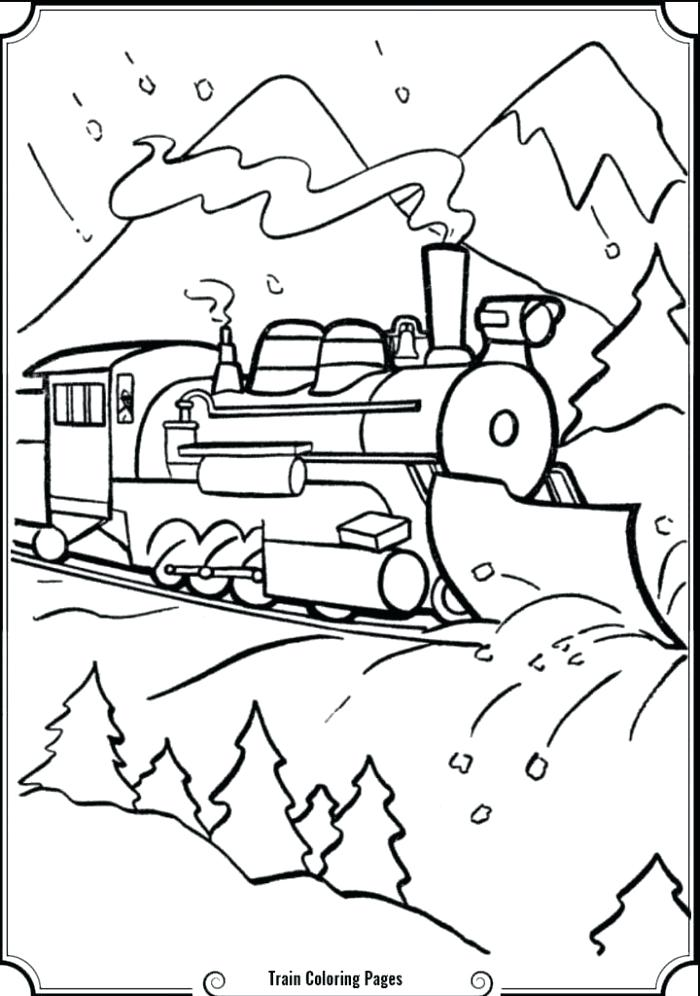 700x996 Polar Express Coloring Page Murs