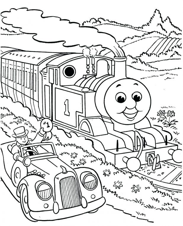 618x762 Cartoon Train Coloring Page 33 Inspiring Picture Passenger Pages
