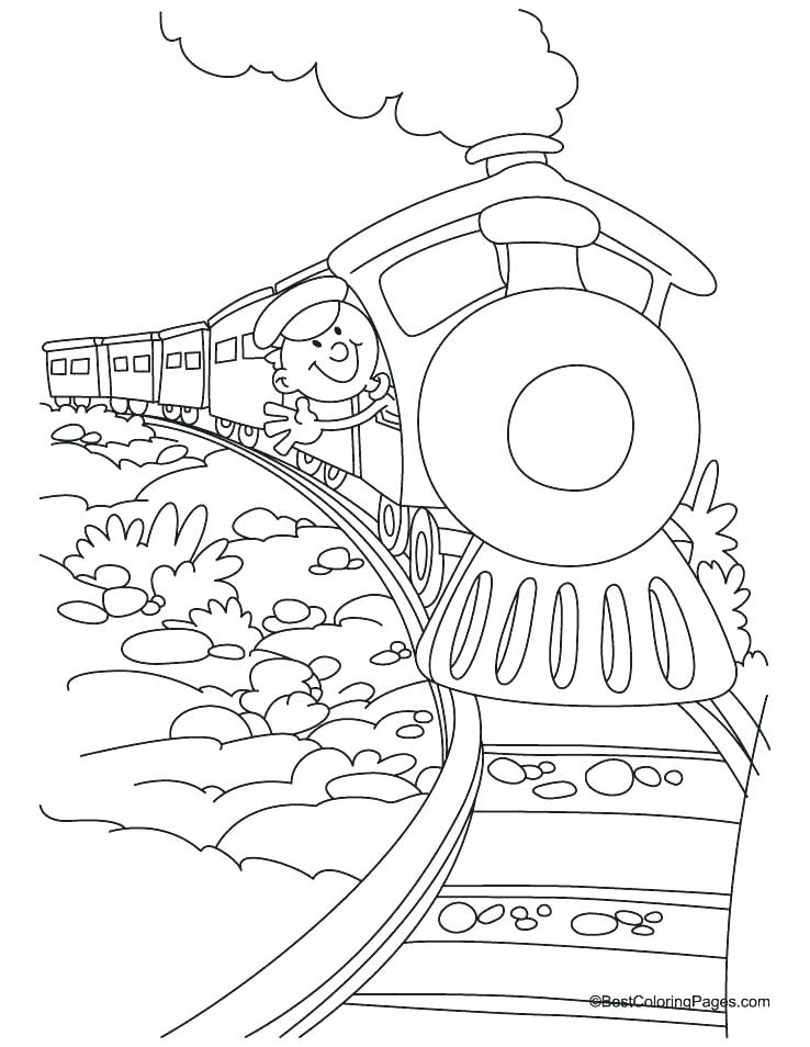 738x954 Steam Train Coloring Pages For Steam Engine Coloring Pages Free