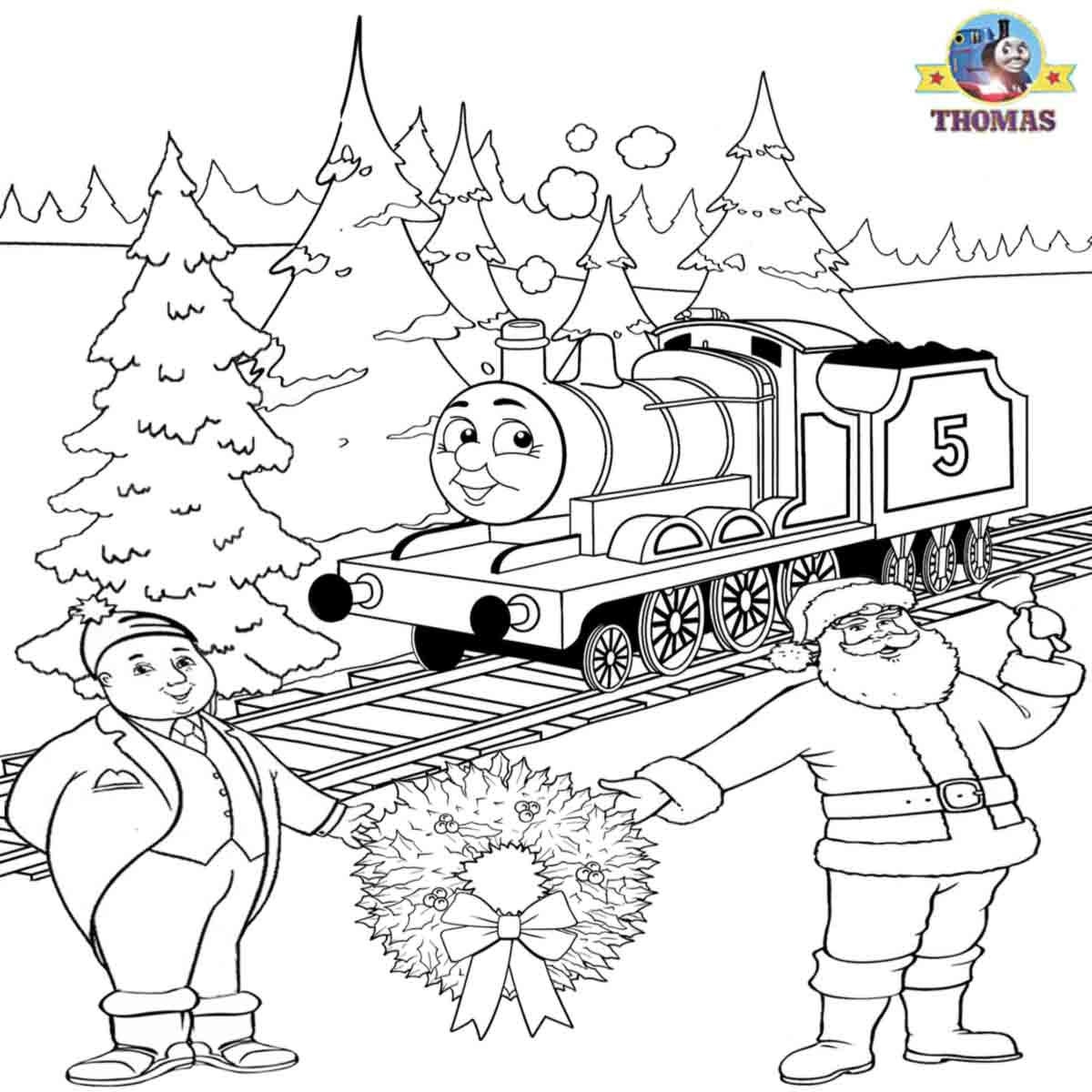 train coloring pages free printable | Christmas Trains coloring ... | 1200x1200