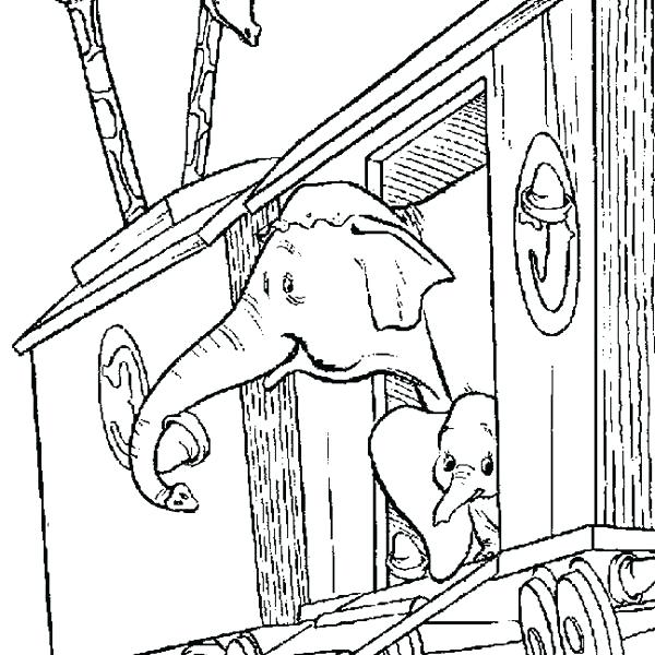 600x600 Dumbo Coloring Page Dumbo Pictures To Color Printable Coloring