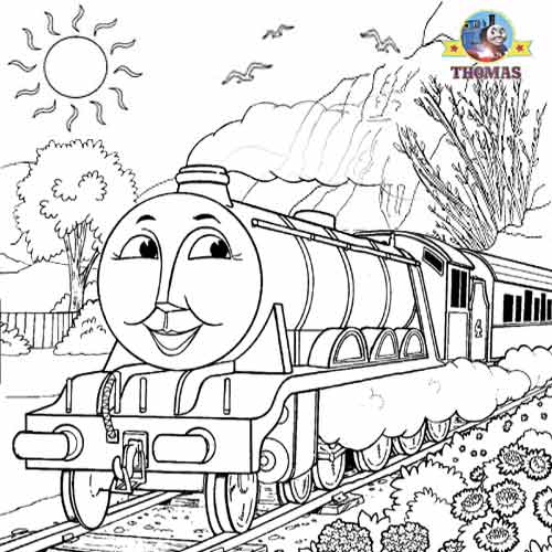 500x500 Free Online Thomas Coloring Pages For Kids Arts And Crafts Train
