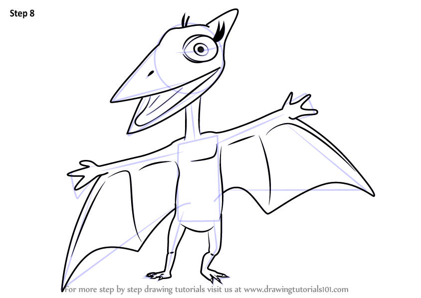 844x598 Learn How To Draw Don Pteranodon From Dinosaur Train (Dinosaur