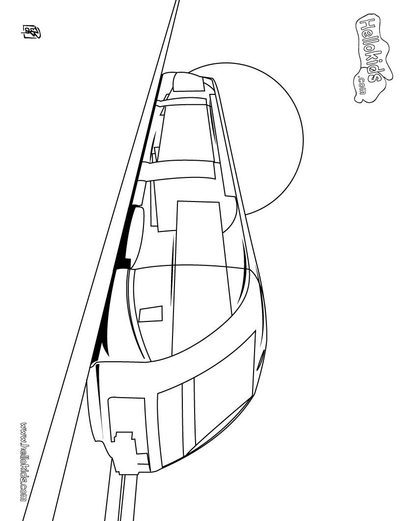 820x1060 Train Coloring Pages