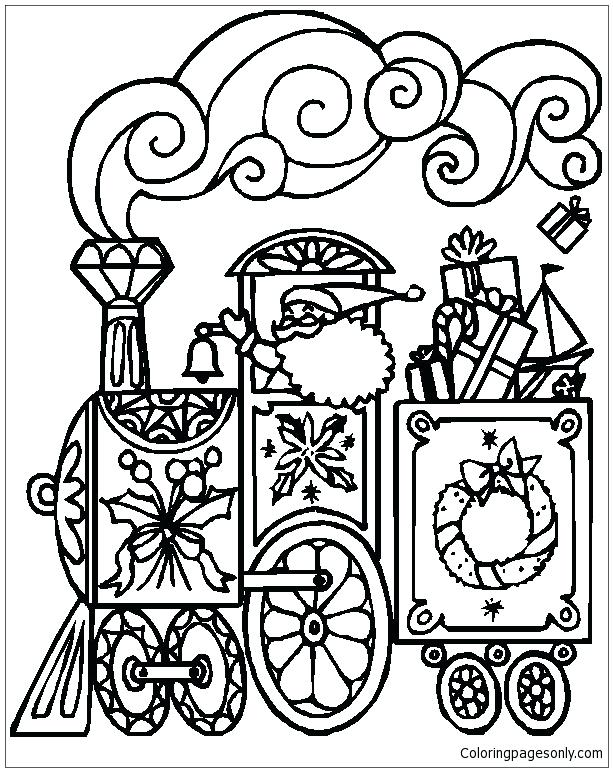 613x772 Train Coloring Pages Free Train Coloring Page How To Train Your