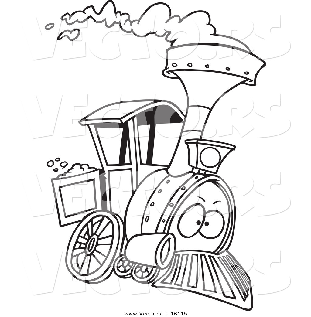 1024x1044 Vector Of A Cartoon Steam Engine Train
