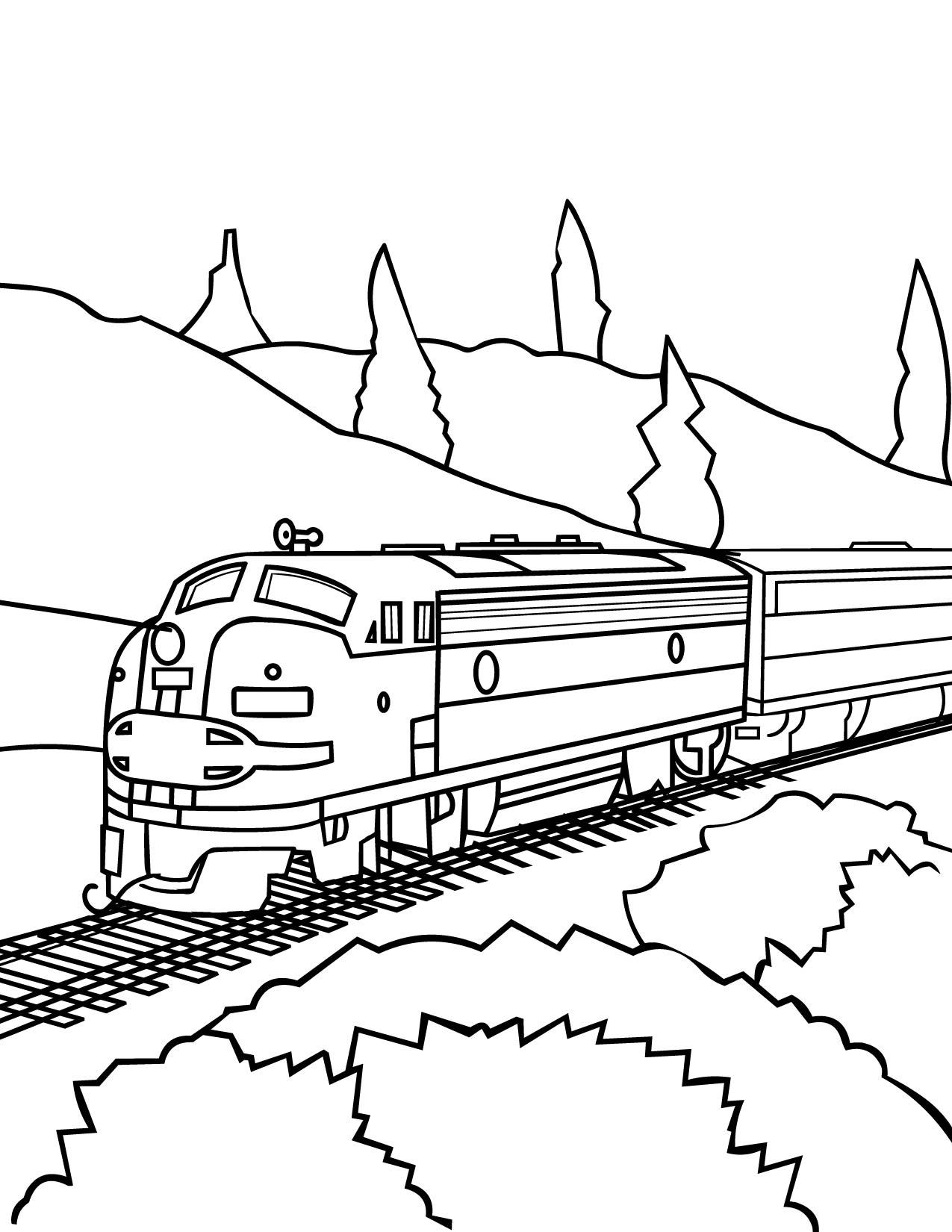 Train Outline Drawing at GetDrawings.com | Free for personal use ...