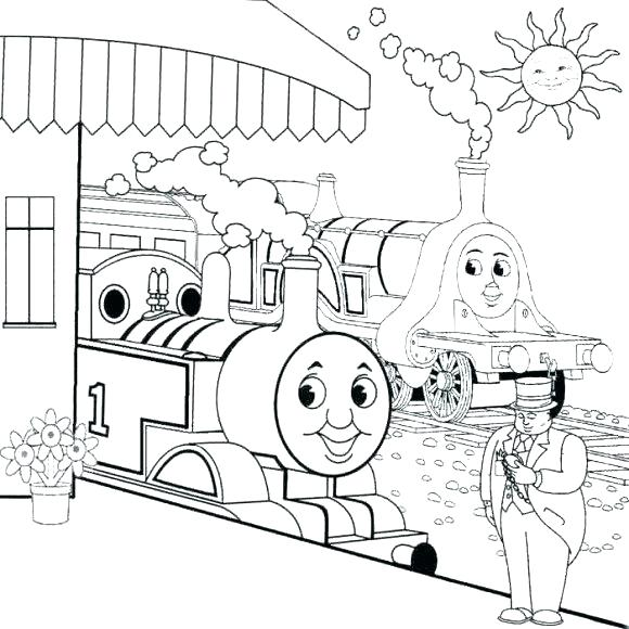 580x580 Thomas Train Coloring Pages The Train Coloring Pages Drawn Train