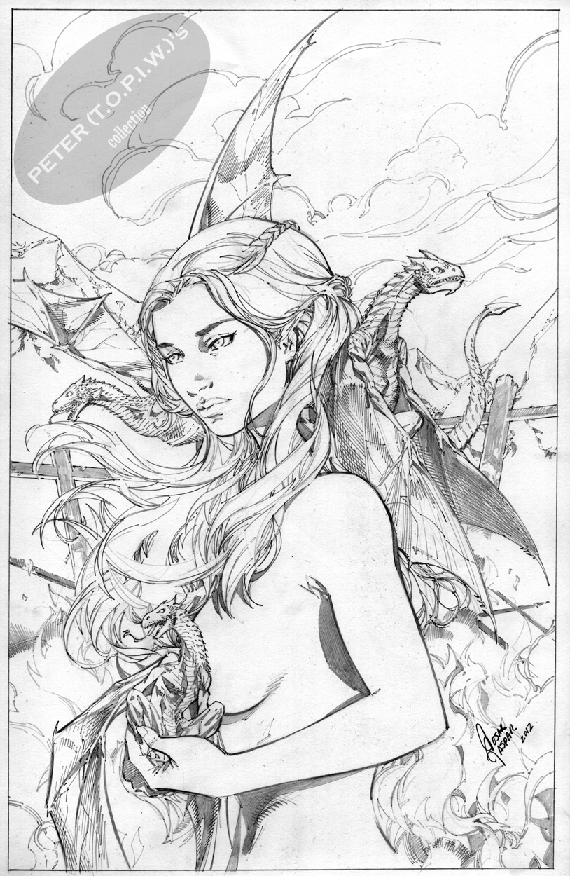 814x1250 Daenerys Game Of Thrones Commission By Cesar R. Gaspar Gonzalez