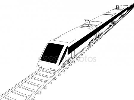 450x337 City Infrastructure And Transport Illustration. Monorail Railway