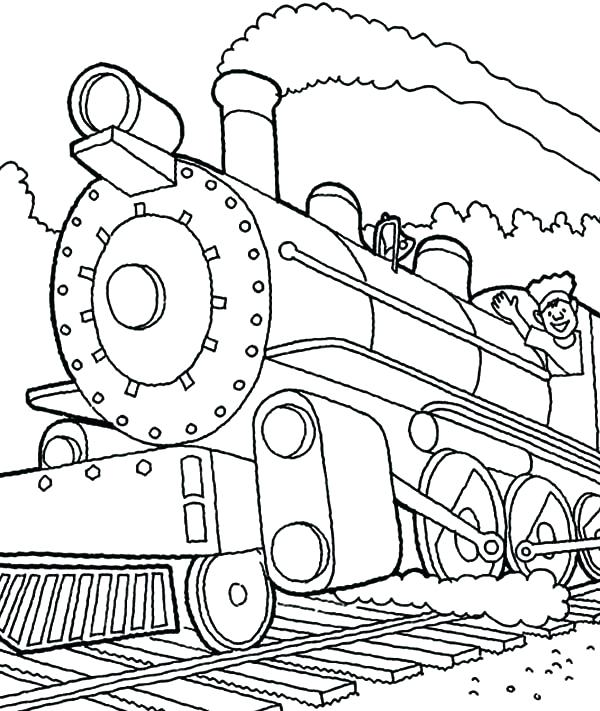 600x711 Train Engine Coloring Page Little Engine That Could Coloring Pages