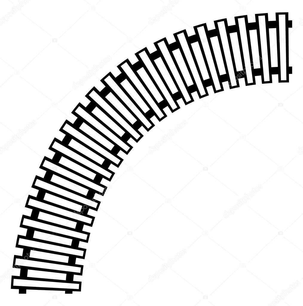 1014x1024 Train Track, Rail Track Element Stock Vector Vectorguy