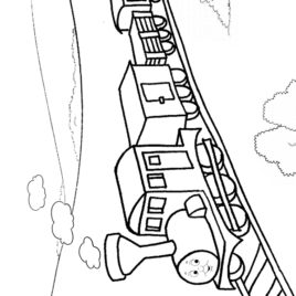 268x268 Coloring Pages Of Train Tracks Archives