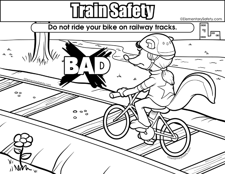 720x556 Coloring Train Safety