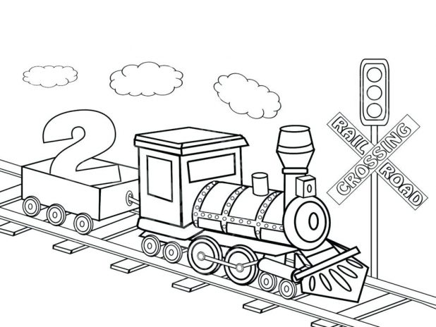 618x464 Coloring Terrific Coloring Pages Of Trains. Free Printable